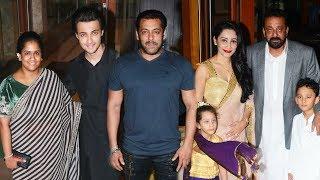 Salman Khan, Sister Arpita Khan And Aayush Sharma At Sanjay Dutt's Diwali Party 2017