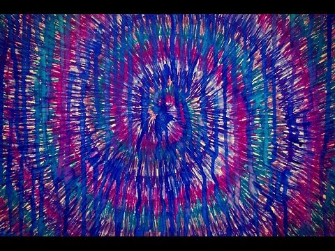How To Draw TIE DYE With SHARPIES+Alcohol Leaking Effect