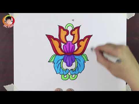 Cách vẽ họa tiết cổ dân tộc từng bước / Vẽ họa tiết hoa lá / NC Plan nc planvẽ nghệ thuật