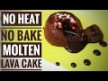 No heat No Bake Molten Lava Cake, Cooking Without Fire, Easy Recipe