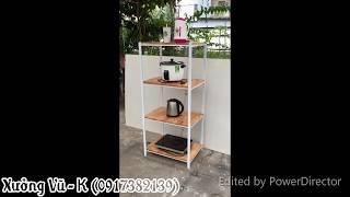 [Xưởng Vũ - K] KE0050 - Kệ lò vi sóng 4 tầng gỗ kháng ẩm