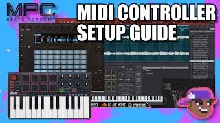 MPC Beats - How To Setup MIDI Controllers(AKAI MPK Mini & Push 2)
