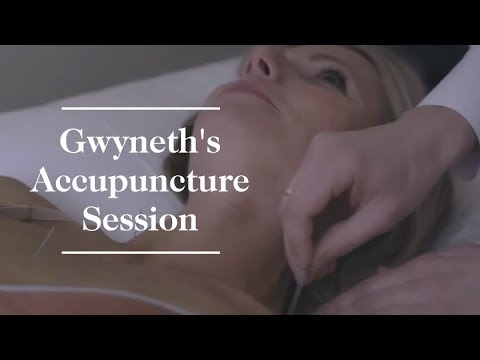 Gwyneth Paltrow's Acupuncture Session  goop