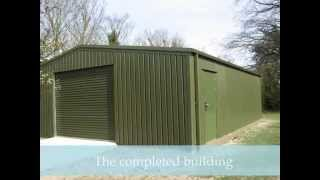 Steel Portal Frame Tractor Shed Building - Blewbury Oxfordshire