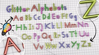 Mesmerising A to Z Glittering Writing Alphabets [Soothing]