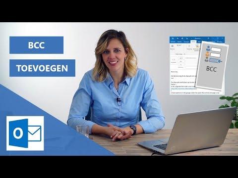 BCC email instellen