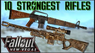 10 STRONGEST RIFLES (Non-Energy) in Fallout: New Vegas - Caedo's Countdowns