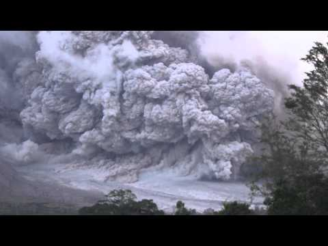 Mount Sinabung Erupts August 2015  with Pyroclastic Flows