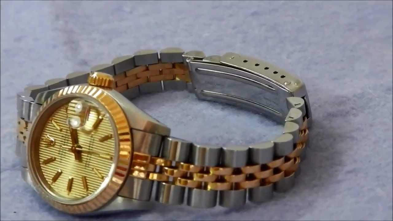 Reloj Rolex Datejust Para Dama Youtube