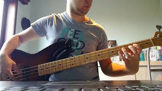 robin thicke ft   pharrell williams & ti - blurred lines bass cover with tabs