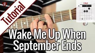 Repeat youtube video Green Day - Wake Me Up When September Ends | Gitarren Tutorial Deutsch
