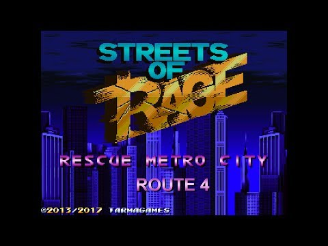 Streets of Rage Remake - Rescue Metro City V3 Route 4 with Axel (SoR1) and Adam