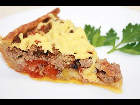 Открытый мясной пирог с картофельным тестом / Meat Pie Recipe