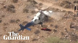 Helicopter rescue of injured hiker in Arizona spins out of control