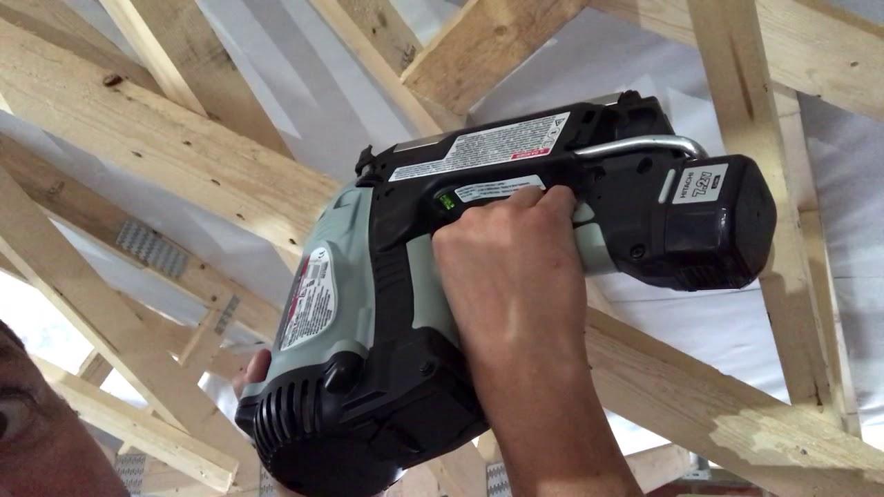 Hitachi Framing Nailer wont fire - Low on Gas - YouTube