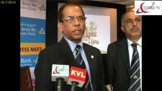 V S Krishna Kumar,ED-Canara Bank briefing about Canara m-Wallet,Canara easyCash& Canara P-Serve