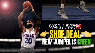 NBA LIVE 18 THE ONE | SIGNING SHOE DEAL + NEW ALWAYS GREEN JUMPER!