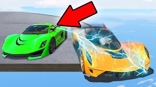 MILE HIGH STUN GUN CAR BATTLE! (GTA 5 Funny Moments)