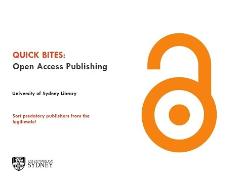 Open Access publishing: how to sort the predatory from the legitimate