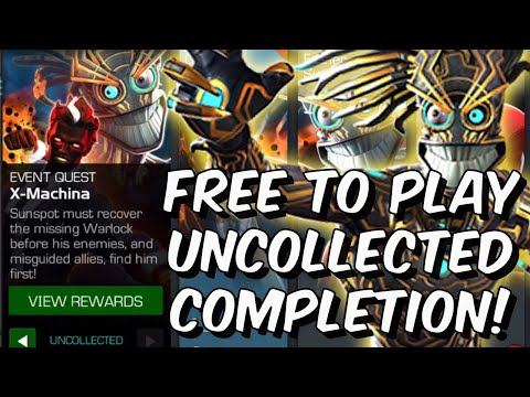 Free To Play X-Machina Uncollected Completion! - Warlock Event - Marvel Contest of Champions