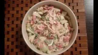 Простые и вкусные рецепты. Салат с макаронами Студенческий