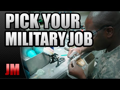 How To Pick Your Military Job