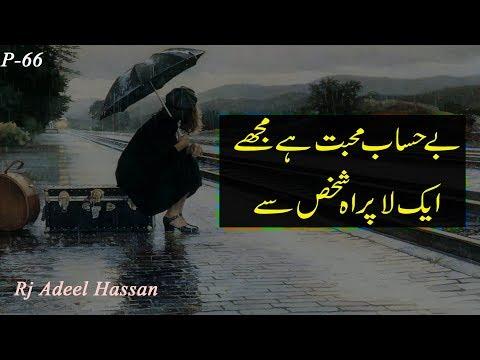 Be-Hesaab Muhbbat Hai Mujhe | 2 sad urdu heart touching poetry | Adeel Hassan | urdu poetry |
