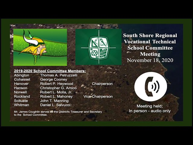 SSVT School Committee; Nov. 18, 2020