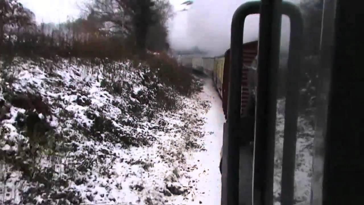 Footplate Ride GWR 2-8-0 3802 Llangollen Railway Saturday 04-12-2010 Part 3 Final Part