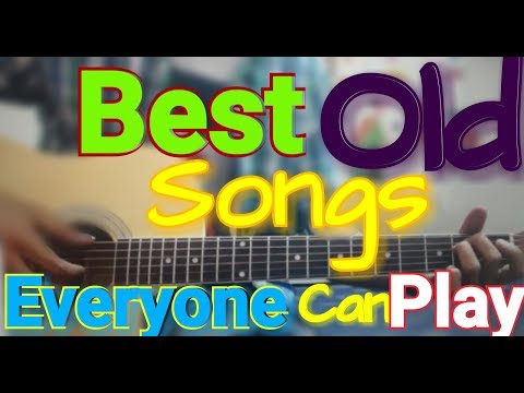 9 BEST OLD Songs - Open Chords - Old Rendition - Extreme Beginners Guitar cover lesson chords Hindi