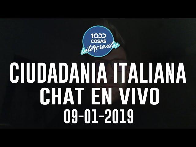 9-1-2019 - Chat en vivo con Seba Polliotto - 1000 Cosas Interesantes - Ciudadanía Italiana