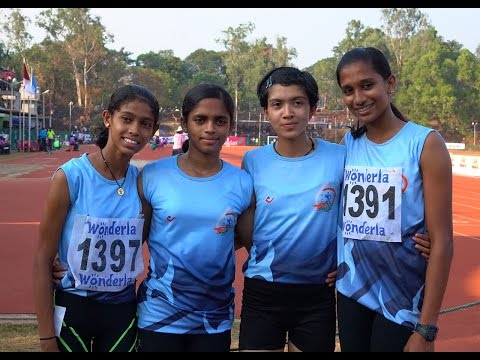 Kerala Junior Girls Won 4x100 M Relay National Schools Athle