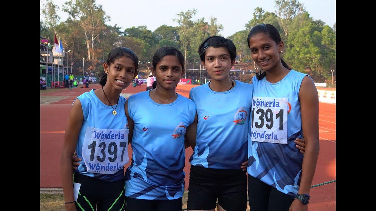 Kerala Junior Girls Won 4X100 M Relay National Schools -7537
