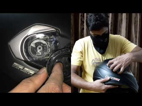 LS2 helmets visor Removal | How to | Replace Helmet Visor | with no tools