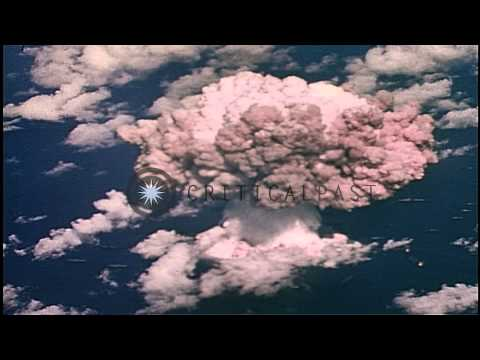 "U.S. military Operations Crossroads atomic test ""BAKER"" in Marshall Islands...HD Stock Footage"