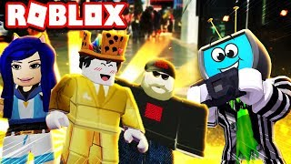 Meeting Itsfunneh + Dantdm and Pewdiepie in Roblox Fame Simulator