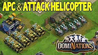 DomiNations - APC and ATTACK HELICOPTER ! NEW ATOMIC AGE UNITS ! (Ep #40)