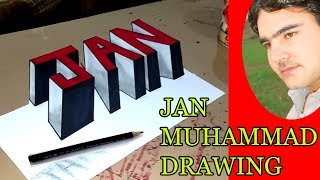 How to draw 3D alphabet letters A - Z in 3D