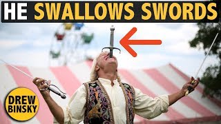 HE SWALLOWS SWORDS (amazing talent!)