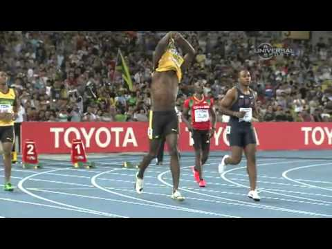 Usain Bolt disqualified after first false starts, 100m; race