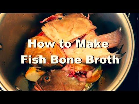 How To Make Organic Fish Bone Broth Paleo Diet Recipe