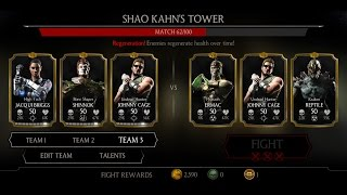 Mortal Kombat X Android Shao Kahn's Tower Fight 54 - 61