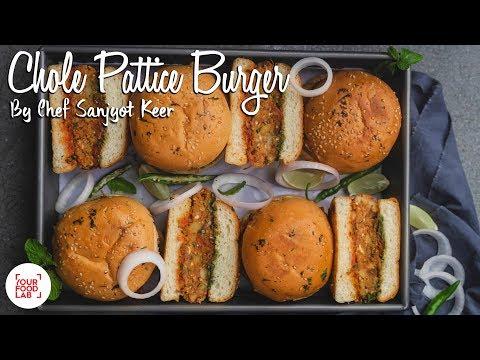 Chole Pattice Burger Recipe | छोले पेटिस बर्गर | Chef Sanjyot Keer