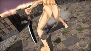 Repeat youtube video MMD attack on titan Mikasa VS Eren titan HD