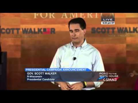 Scott Walker 2016 POTUS announcement