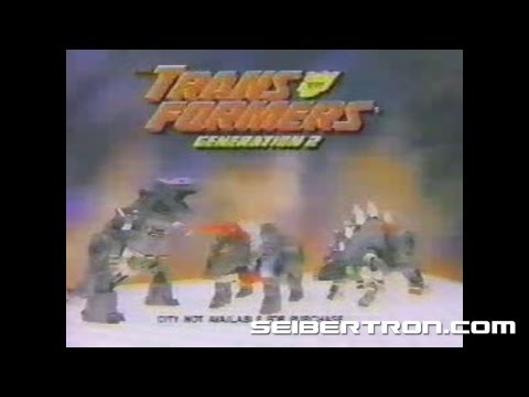 Transformers G2 Dinobots Generation 2 commercial 1993