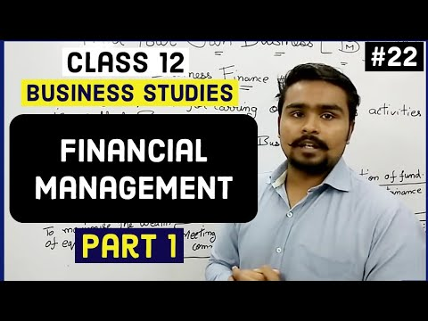 Class 12 business studies (business finance and decisions) mind your own business video 22