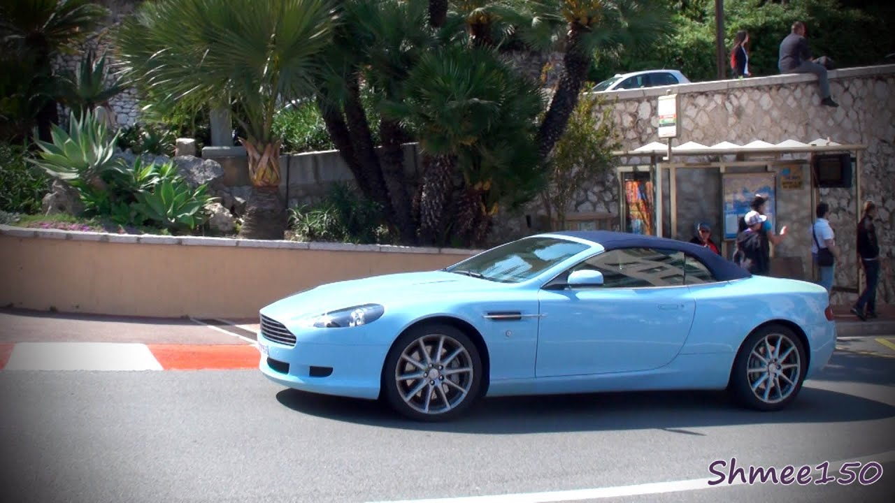 Baby Blue Aston Martin DB9 Volante - Combo with 458 Italia ...