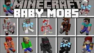 Minecraft HORROR BABY MOBS MOD / FIGHT OFF THE DANGEROUS BABY HORROR MOBS !! Minecraft