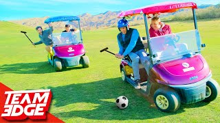 Playing Polo on Golf Carts!!